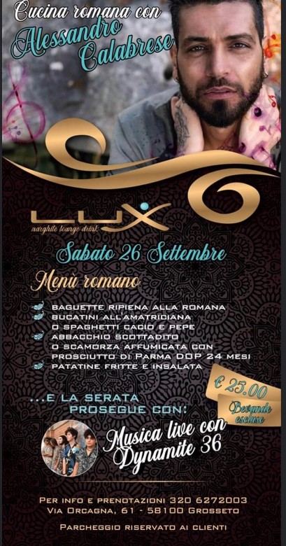 LUX lounge drink - Sabato 26/09/2020  - Grosseto